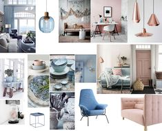 Moodboard Interiores Pantone Color of the Year 2016 Serenity & Rose Quartz