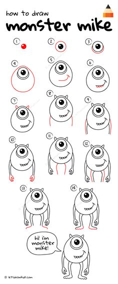 How To Draw Monster Mike
