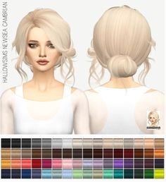 Miss Paraply: Newsea`s Cambrain hair: solids • Sims 4 Downloads