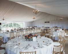 Elegant Tented Reception | Mary + Roy: A Creative Studio | TheKnot.com