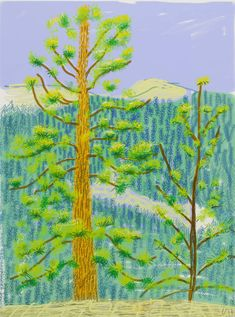 """Untitled No. 8"" from The Yosemite Suite, 2010, by David Hockney."
