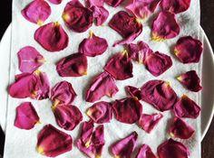 Drying petals to make DIY confetti