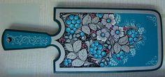 "Russian decorative art - ""blue khokhloma"""