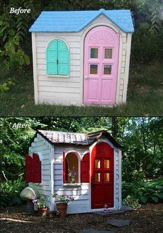 Outside playhouse