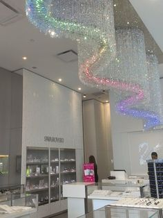 Swarovski Retail Store, Geary Street, San Francisco.  The custom LED lighting fixture is designed to resemble Lombard Street.