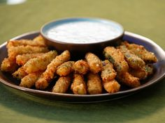 Crispy Zucchini Fries with Buttermilk Ranch Dipping Sauce Tia Mowry at home cooking show