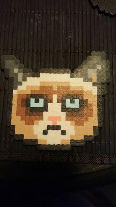 Grumpy cat by FishingForPixels on Etsy Handmade Necklaces, Handmade Gifts, Diy Jewelry Tutorials, Men Store, Grumpy Cat, Fashion Rings, Swarovski Crystals, Gemstones, Unique Jewelry