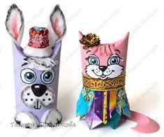 Мастер-класс Новый год Аппликация Моделирование конструирование Кошки зайцы и карнавал животных Бумага Диски ватные Материал бросовый Трубочки картонные Фантики Фольга