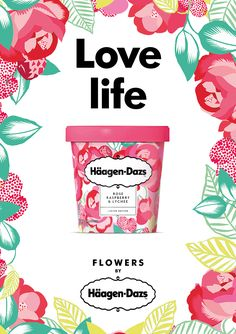Food infographic This Floral Inspired Ice Cream Will Have You Ready for Spring — The Dieline - . Infographic Description This Floral Inspired Ice Cream