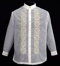 BUY JUSILYN BARONG TAGALOG #1036 PRICE: $59.99 This simple embroidered Barong Tagalog is the height of good taste in formal dressing. Jusilyn with detailed embroidery, it creates an admirable style statement. Its shape and mandarin collar complete the effortless look. Coordinate with your best dress pant, it will be a sure winner. #barong #barongtagalog #womensbarong #philippinefashion #fashion #embroidery #onlineshopping #customes #selfie #halffilipina #filipina #weddingday #wedding #pinoy