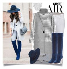 """Casual Blues :: Sapphire boots & Navy hat"" by lisamichele-cdxci ❤ liked on Polyvore featuring Whiteley, 7 For All Mankind, Exclusive for Intermix, Tinley Road, Chanel, Joie and rag & bone"