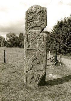 Maiden Stone 9thC A.D. , Pictish Standing Stone, Aberdeenshire, Scotland.