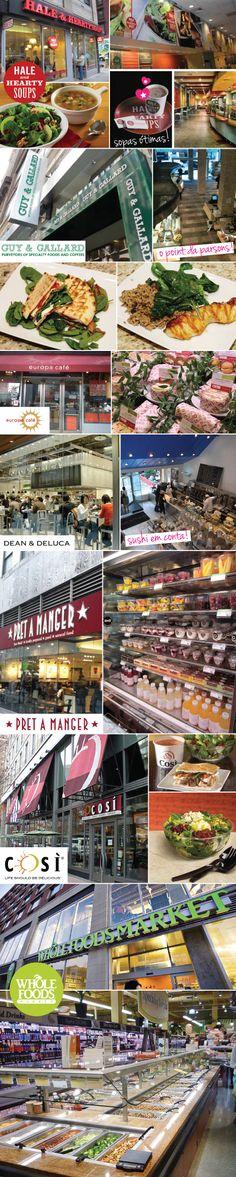 Opções de lanches saudáveis em NY.