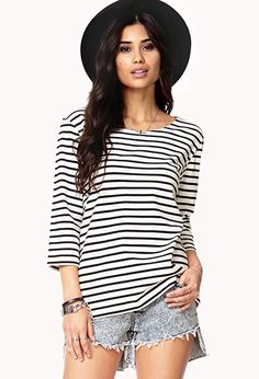 Marinière Striped Top | FOREVER 21 - 2058120901