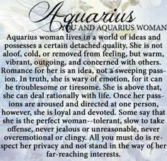 You and Aquarius Woman..