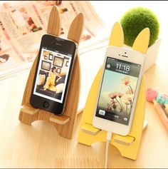 Wooden Mobile Phone Stand Holder for Samsung Galaxy edge Neo Note 5 4 3 Bracket Rabbit Wood Phone Socket Diy Phone Stand, Tablet Stand, Diy Phone Case, Tablet Holder, Samsung Galaxy S5, Galaxy S7, Support Portable, Mobile Holder, Mobile Stand