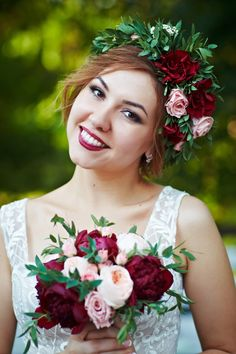 Bride and a flowercrown