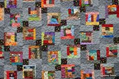 Crumbs in the Corner Quilt. Close Up. What a great take on the Disappearing 9 Patch Quilt Block. Peace, Robert from nancysfabrics.com