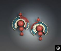Sgraffito Earrings by Bettina Welker