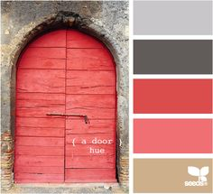a door hue design seeds hues tones shades color palette, color inspiration… Colour Pallette, Color Palate, Colour Schemes, Color Combos, Design Seeds, Pantone, Colour Board, Color Swatches, Color Theory