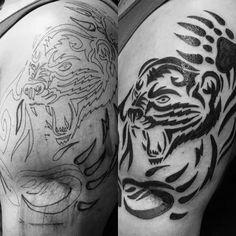 100 Bear Claw Tattoo Designs For Men - Sharp Ink Ideas Bear Paw Tattoos, Hand Tattoos, Tatoos, Claw Tattoo, Tribal Bear, Upper Arm Tattoos, Type Illustration, Bear Claws, Tattoo Designs Men