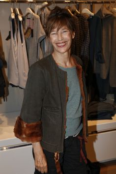 Jane Birkin at the opening of the new Berenice shop at 414 Saint Honore street in Paris 2010 | Photo Jerome Domine.