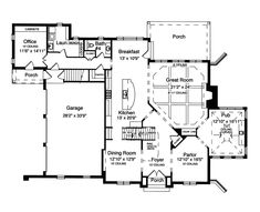 "house plan 2109-b mayfield ""b"" first floor plan - colonial cottage"