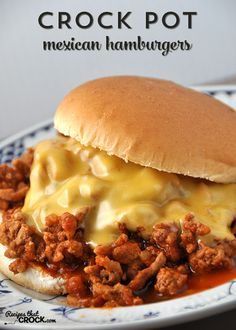Crock Pot Mexican Hamburgers | These Crock Pot Mexican Hamburgers are a delicious and easy way to beat the dinnertime blahs!