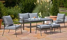 The Palma Corner Set brings luxury to your garden with the comfy, outdoor, Casual Dining sofas. Garden tables are available and sold separately. Garden Furniture, Outdoor Furniture Sets, Outdoor Decor, Dining Sofa, Granada, Lounge, Garden Table, Malaga, Slate