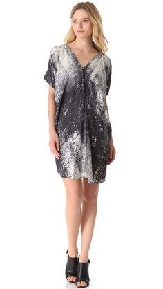 Vince Graffiti Print Drape Dress
