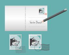 Postcard Template free vector