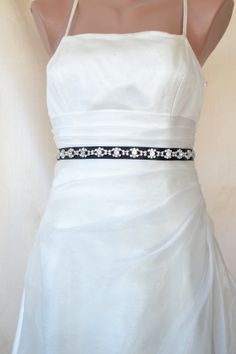 Elegant Eyes Rhinestone Beaded Wedding Dress Sash by elitewomen, $32.00