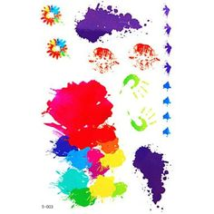 HJLWST 1 Pc Colorful and Creative Pattern Temporary Tattoo Stick Keeping 7 Days ** More info could be found at the image url. (This is an affiliate link and I receive a commission for the sales) #Makeup