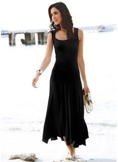 Vestido de tricô com detalhes de renda