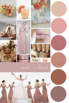 Wedding Planner Office Color Palettes Ideas For 2019 Wedding Themes, Wedding Styles, Wedding Decorations, Trendy Wedding, Rose Wedding, Dream Wedding, Wedding Day, Wedding Planner Office, Nude Pink