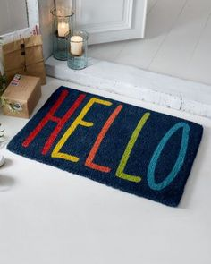This is the doormat that inspired me to create this collection. Fun, bold and gorgeous - it's the perfect way to give your guests a warm welcome.
