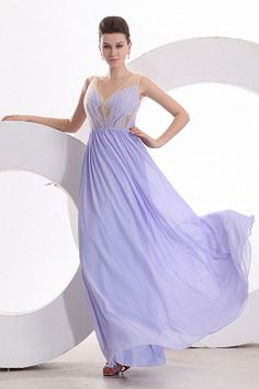 Chiffon V-Neck Classic Cocktail Gowns - Order Link: http://www.theweddingdresses.com/chiffon-v-neck-classic-cocktail-gowns-twdn2516.html - Embellishments: Draped; Length: Floor Length; Fabric: Chiffon; Waist: Natural - Price: 154.81USD