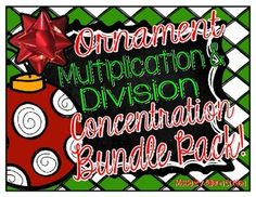 Save $$ when purchasing my bundle pack! Only $2.00 for two great games!   Students can practice their multiplication and division facts with this fun Holiday Math Concentration Game!  I love to put this game in a baggie as a math center for student use during my Guided Math time!