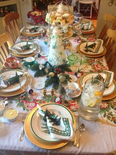 spode christmas tree table settings - Google Search