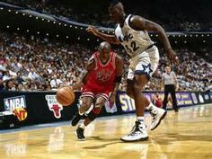finest selection 1acf7 76319 Michael Jordan dribbling past Shaq in the Nike Air Jordan XI