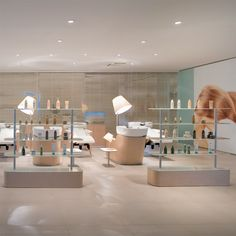 Expo green, Presence Paris, Salon furnishing units, Hair salon furniture