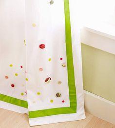 Bastelideen Knöpfen gardinen schmücken