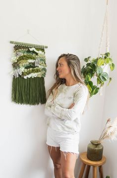 Handwoven wall hanging, Macrame plant hanger Plant Hanger, Macrame, Hand Weaving, Trending Outfits, Handmade Gifts, Wall, Unique, Plants, Clothes