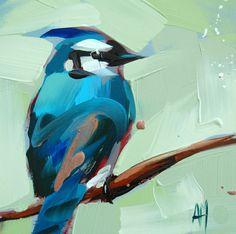 Blue Jay Nº 16 aves impresión de arte Angela por prattcreekart