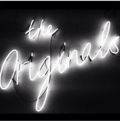 The Originals neon Light Em Up, Light Art, Neon Light Signs, Neon Signs, Neon Words, Neon Aesthetic, White Aesthetic, Light Quotes, All Of The Lights