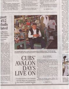 We made it on the front sports page of the #OCRegister! Lolo Saldaña of Lolo's Plaza Barber Shop is an 85 year young barber on Catalina Island. It's not often people pick up the paper anymore and rare to make it in the paper so it's a good feeling when we see something like this. AND it's a cool story too!