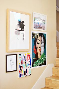 How To Pick Art And Tips For Creating A Gallery Wall via  @alongabbeyroad