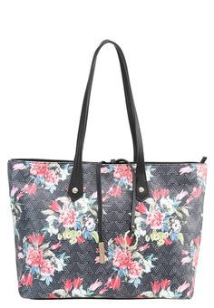 """PRILISSA - Handbag - black/multicolor. Lining:Polyester. Compartments:mobile phone pocket. carrying handle:9.5 """" (Size One Size). Fastening:Zip. height:10.5 """" (Size One Size). Fabric:Synthetic leather. Outer material:polyvinyl chloride,..."""