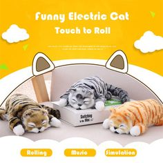 See the Grab It's great products Laughing Animals, Laughing Cat, Cat Roll, Kids Birthday Gifts, Christmas Gifts For Kids, Christmas Time, Cute Toys, Plush Animals