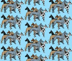 Great Dane Colors fabric by dogdaze_ on Spoonflower - custom fabric